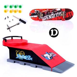 Set Rampa Skatepark + Fingerboard Para Tech Deck Modelo D