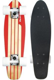 Skate Cruiser Mini Longboard Surf Abec Simula Red Nose 4442