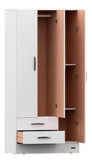 Placard Ropero 3 Puertas Blanco Interior Sin Pintar Mosconi