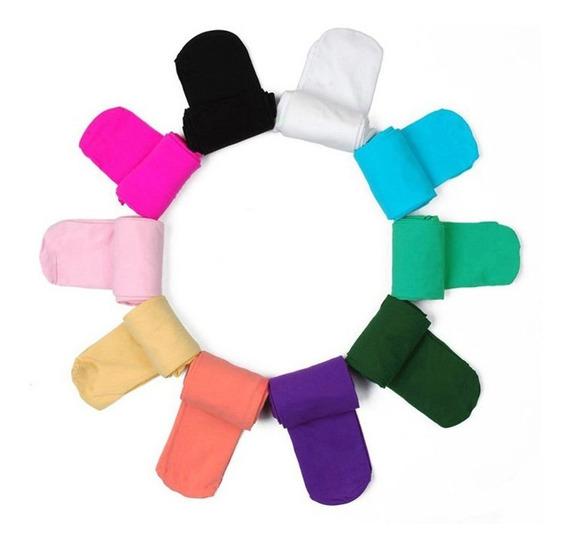 Meia Calça Infantil Fio 40 Colorida 7 A 12 Anos