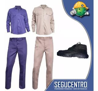 Kit Ropa De Trabajo Camisa+ Pantalon +botin Local Centro Fca