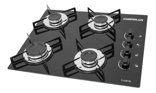 Fogão cooktop a gás Chamalux 4 Bocas preto