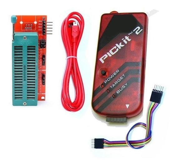 Pickit 2 + Adaptador Zif Programador Gravador Debugger Mf
