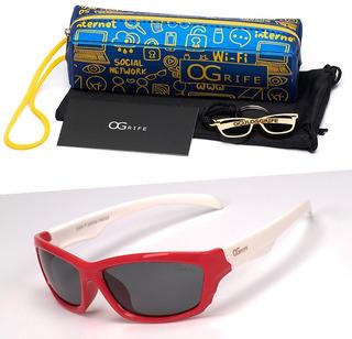 Oculos Ogrife Solar Infantil Og 971-i Flexível Polarizado