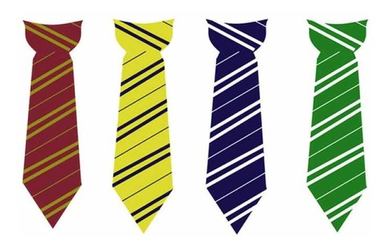 Corbata Harry Potter Griffindor , Hufflepuff , Ravenclaw