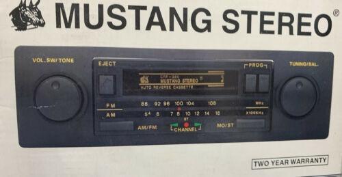 Radio De Coche Mustang Vintage / Estéreo Con Casete De Dobl