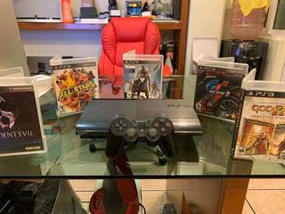 Playstation 3 Súper Slim De 250 Gb C 5 Juegos Físicos Y Hdmi