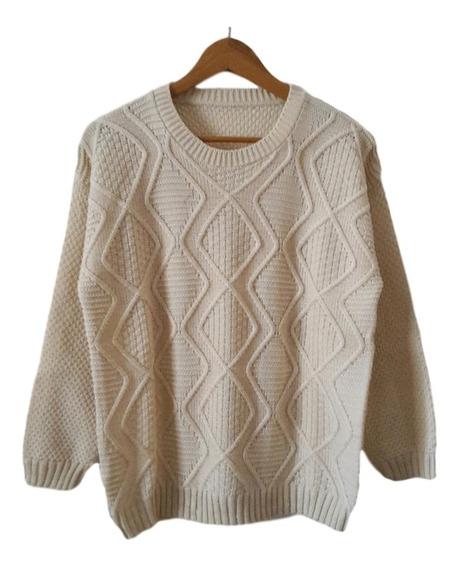 Sweater De Lana - Pullover Mujer Talle Grande