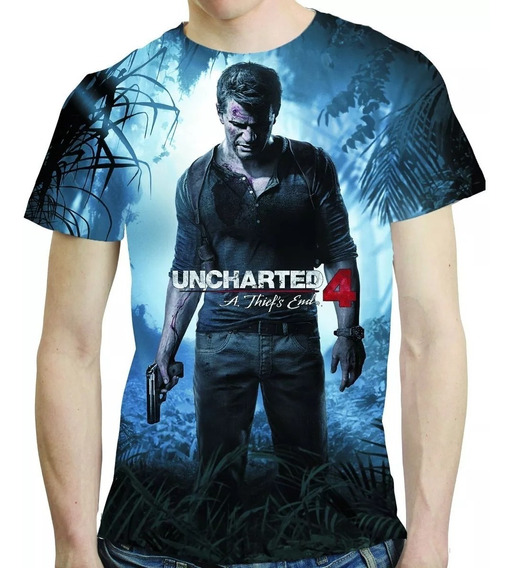 Camisa Game Camiseta Uncharted 4 - Estampa Total