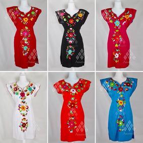 9f76cd7fb3 Vestidos Bordados Mexicanos - Vestidos de Mujer en Mercado Libre México