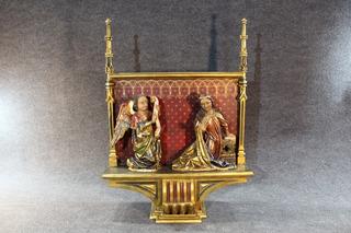 Retablo Neogotico De La Anunciacion. Francia Siglo 19