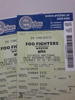 Dos Entradas Al Concierto Foo Fighters Sombra Este Regaladas