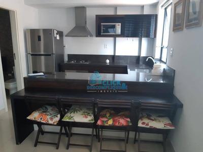 Lindo Flat Duplex Mobiliado Na Ponta Da Praia - Fl0017
