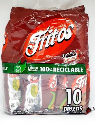 Imagen 1 de 1 de Fritos Pack Bolsa Con 10 Piezas Sabritas