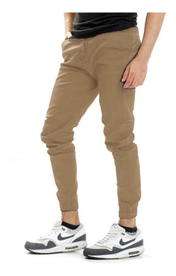 Pantalón Jogger De Gabardina Para Hombre Color Kaki