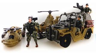 Set De Fuerzas De Combate Especiales Helicoptero Lancha