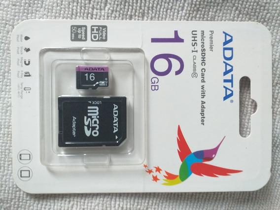 Cartão Memória Micro Sd 16gb Adata Para Motorola Lenovo Asus