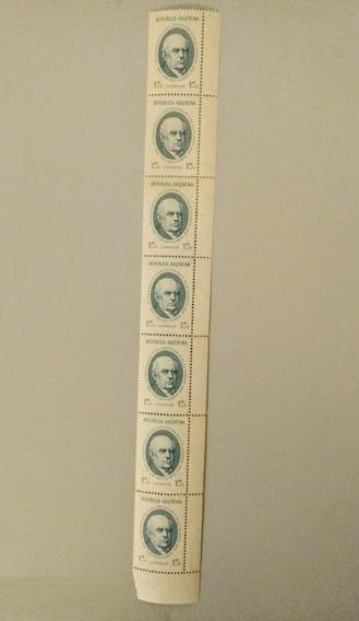 Estampillas Argentinas Sarmiento Mint (7 Con Borde De Hoja)