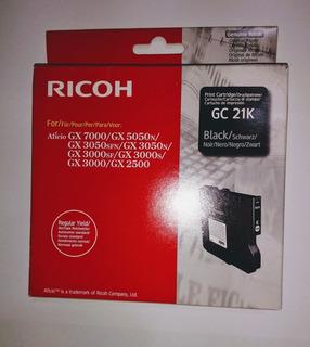 Ricoh Gc 21k Cartucho De Tinta Original Black