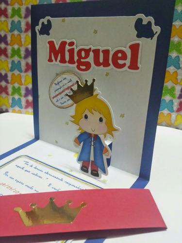 Imagem 1 de 6 de Convite Pop Up 3d - Pequeno Príncipe (outros Temas)_10 Unid