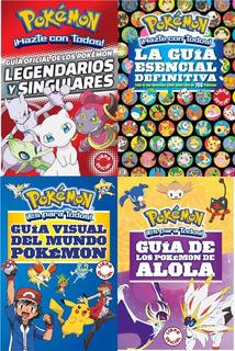 4x1 Pokemon Guía Esencial + Legendarios + Visual + Alola