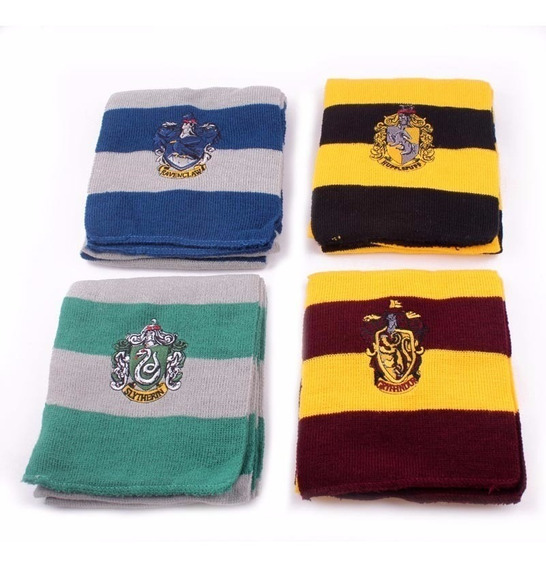 Bufanda Harry Potter Gryffindor Hufflepuff Slytherin Ravencl