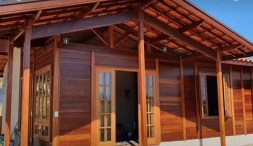 Cad Construções Construção Casa Madeira E Alvenaria