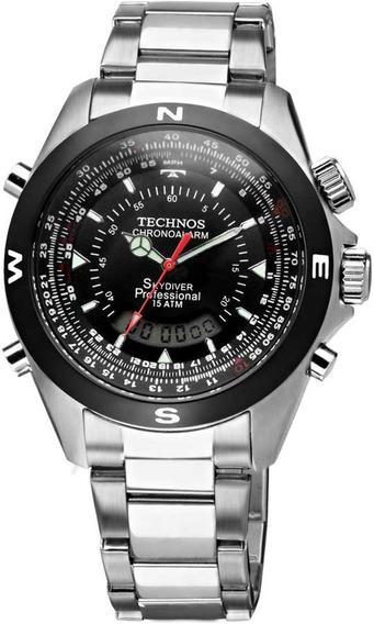 Relógio Technos Masculino Skydiver Pilot T20560/1p Aço