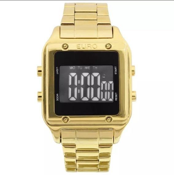 Relógio Euro Feminino Eug2510aa/4p Dourado Digital Vitrine