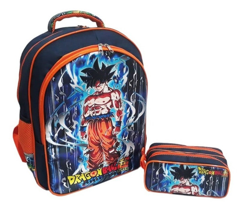 Mochila Costas Dragon Ball Ins Superior + Estojo Duplo Tam G