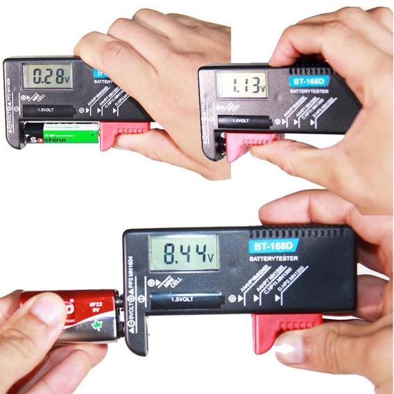 Testador De Pilhas Baterias Normal Recarregável Digital C05