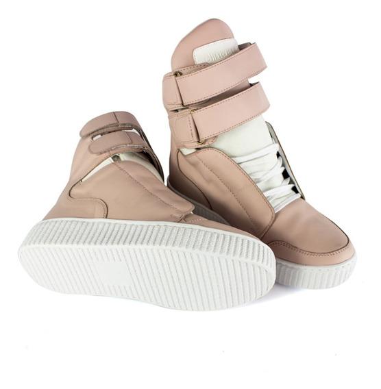 Sneakers Bota Botinha Treino Fitness Feminina Academia Couro