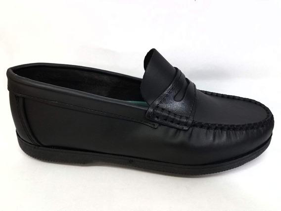 Zapatos Mocasines De Cuero