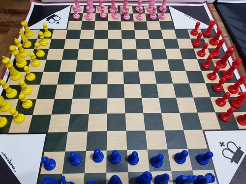 Imagen 1 de 4 de Ajedrez Para 4 Jugadores - Varios