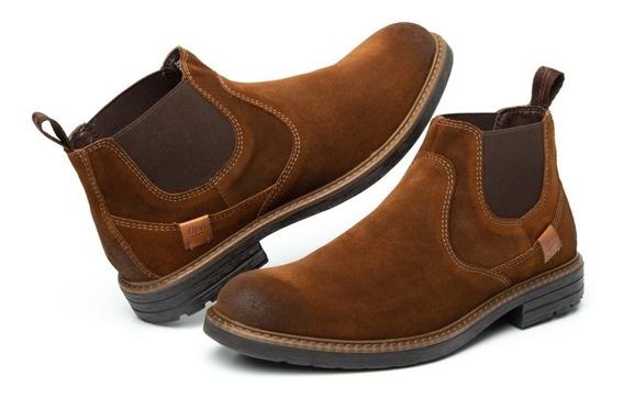 Zapato Botin Casual Caballero 402504 Flexi Canela