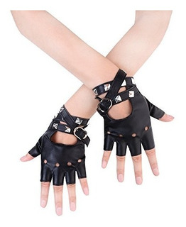Jisen Remaches Punk Mujer Cinturón Arriba Dedo
