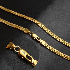 Colar Cordão Masculino Antialérgico Banhado Ouro 18k 5mm .