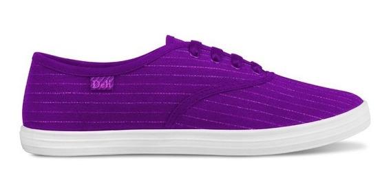 Deli Zapatillas De Lona Para Dama Del 35 Al 40 Violetas