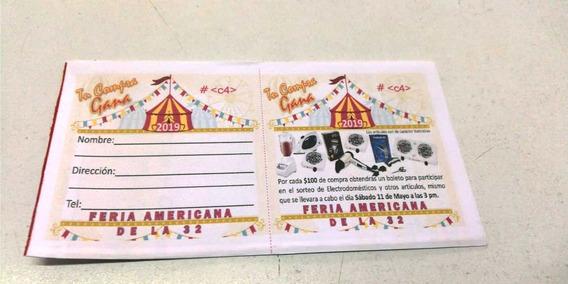 300 Boletos Rifa, Eventos, A Color