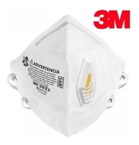 Respirador 3m N95 9822 Con Válvula X 5 Unid.