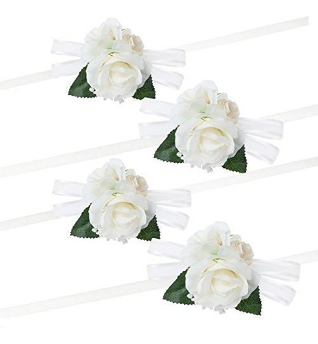 Wonderfit Paquete De 4 Pulsera De Flores Niña De Honor Boda