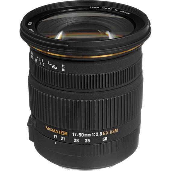 Lente Sigma 17-50mm F/2.8 Ex Dc Para Canon - Loja Platinum