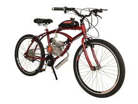 Bicicleta Motorizada Aro 26 Caiçara 80cc 2 Tempos Kit Motor