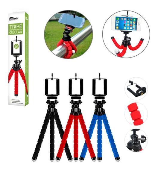 Mini Suporte Tripe Câmera Celular Momentos Profissional Abs