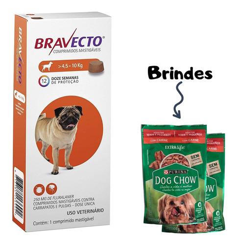 Bravecto Pug Antipulgas Para Cães De 4,5 A 10 Kg - Msd