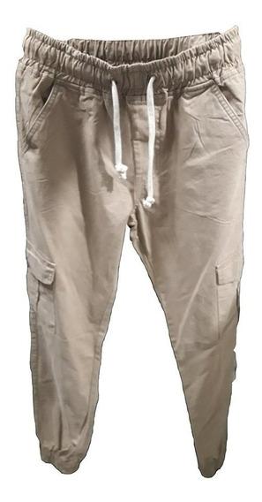 Pantalón Gabardina Jogger Cargo Hombre