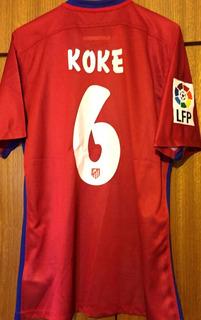 Camisa Do Atlético Madrid 2015/16 Koke #6 Versão Jogador