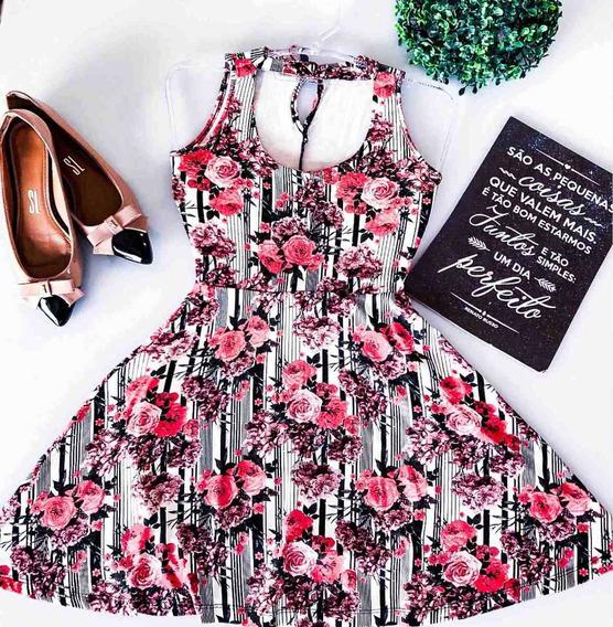 Vestido Feminino Boneca Rodado Moda Feminina Liquidação 2019