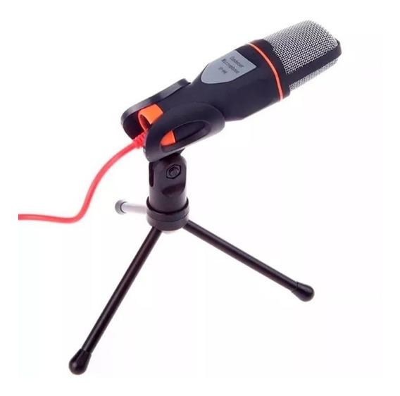 Microfone Mesa Alta Sensibilidade Flexível Skype Gamer
