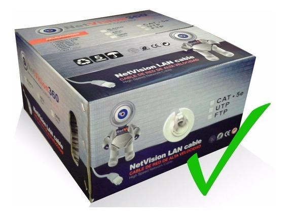 Cable Utp Bobina 305mts Cat 5 Netvision / 22 Verdes